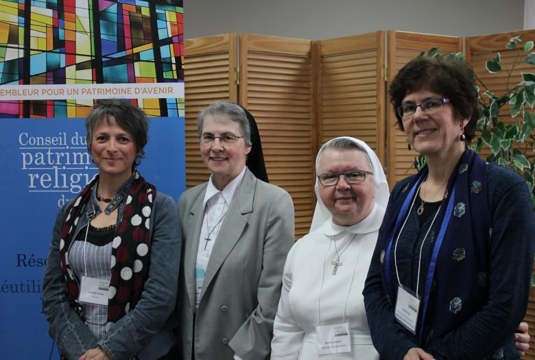 Madame Annabel Loyola, soeur Carmelle Bisson, soeur Rachel Lemieux, madame Janice Rosen