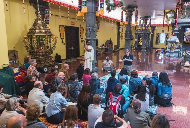 Guided tour, Thiru Murugan Temple, Montreal