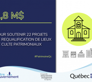 $ 1.8M to support 22 projects for the requalification of heritage places of worship
