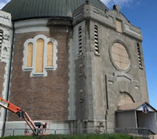 Phase 1 of the restoration work on the Amos Cathedral has begun