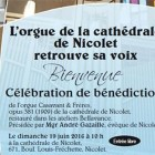 The organ of the Nicolet cathedral recovered its voice